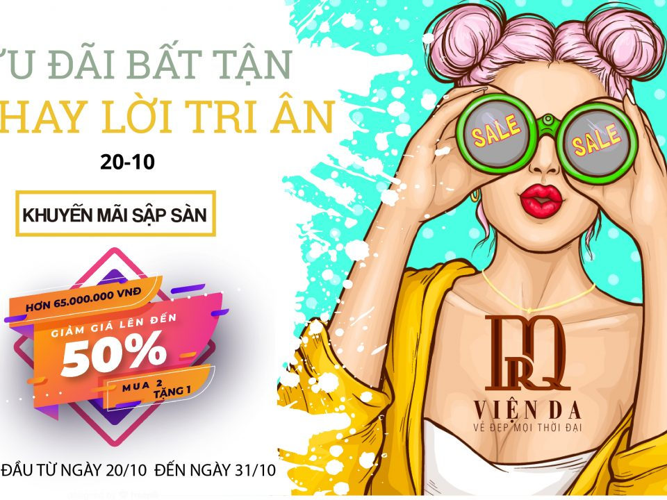 ưu đãi 20/10 giảm giá lên đến 50%